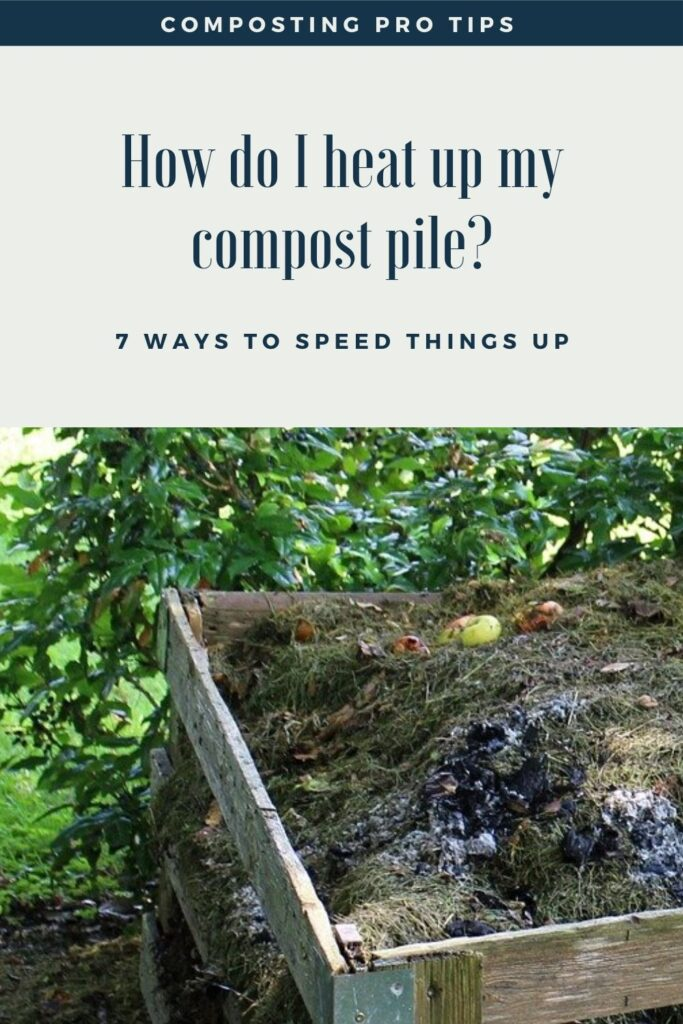 how to heat up compost pile