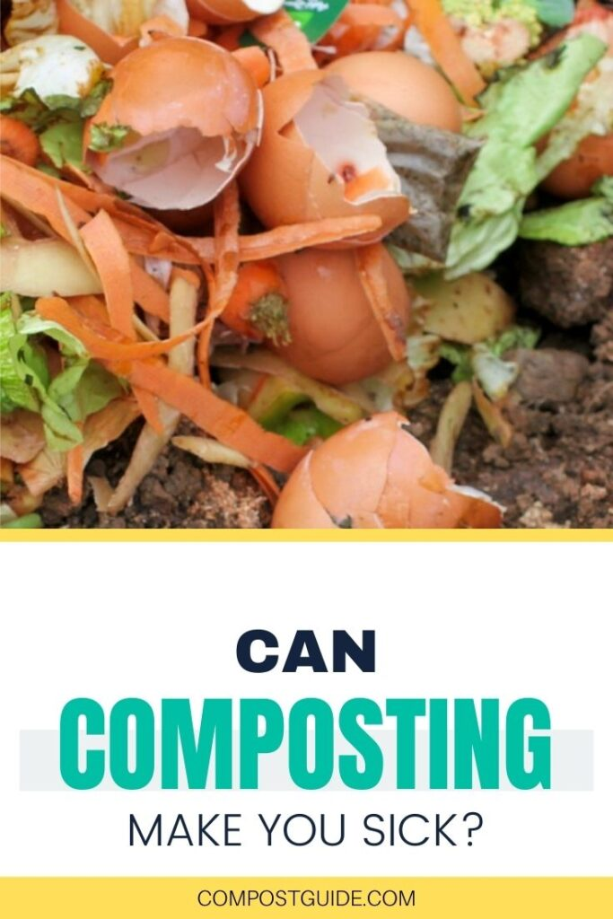 compost ingredients with text overlay can composting make you sick
