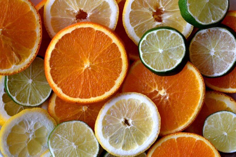 lemon and orange ready for composting